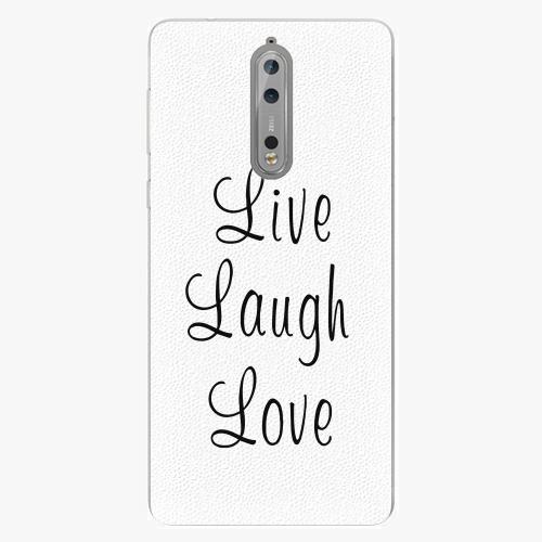 Plastový kryt iSaprio - Live Laugh Love - Nokia 8