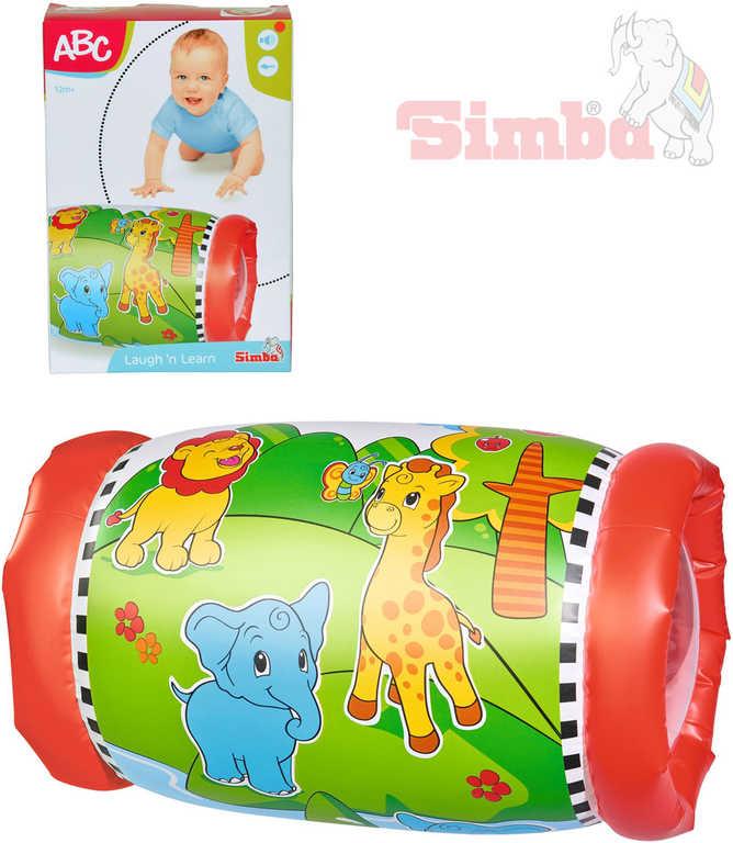 SIMBA Baby válec chrastící 44x25cm se zvířátky na podporu lezení pro miminko