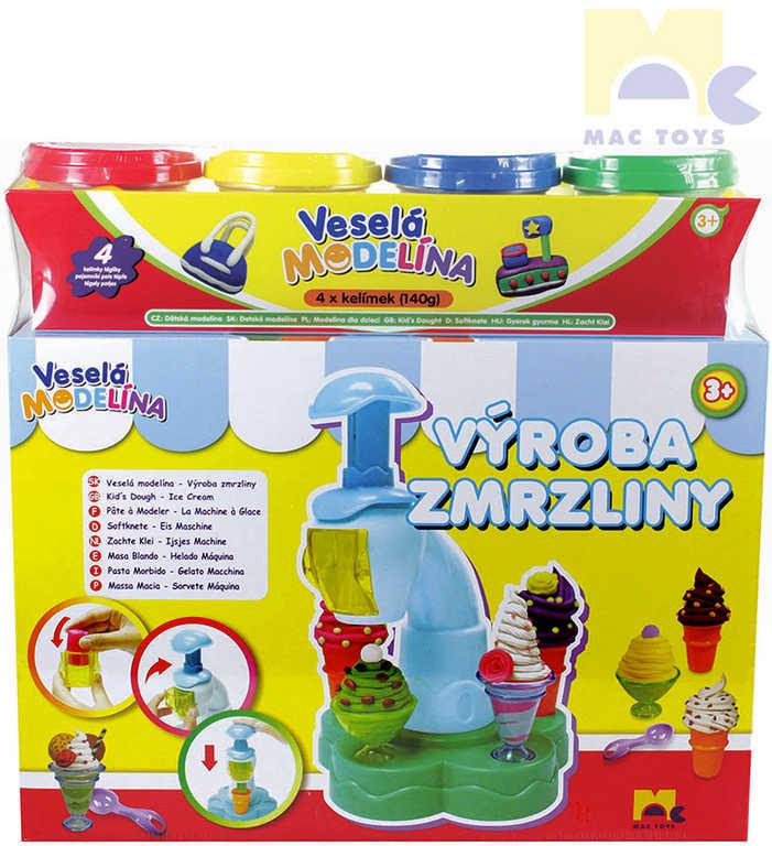 MAC TOYS Výroba zmrzliny kreativní set s modelínou a doplňky