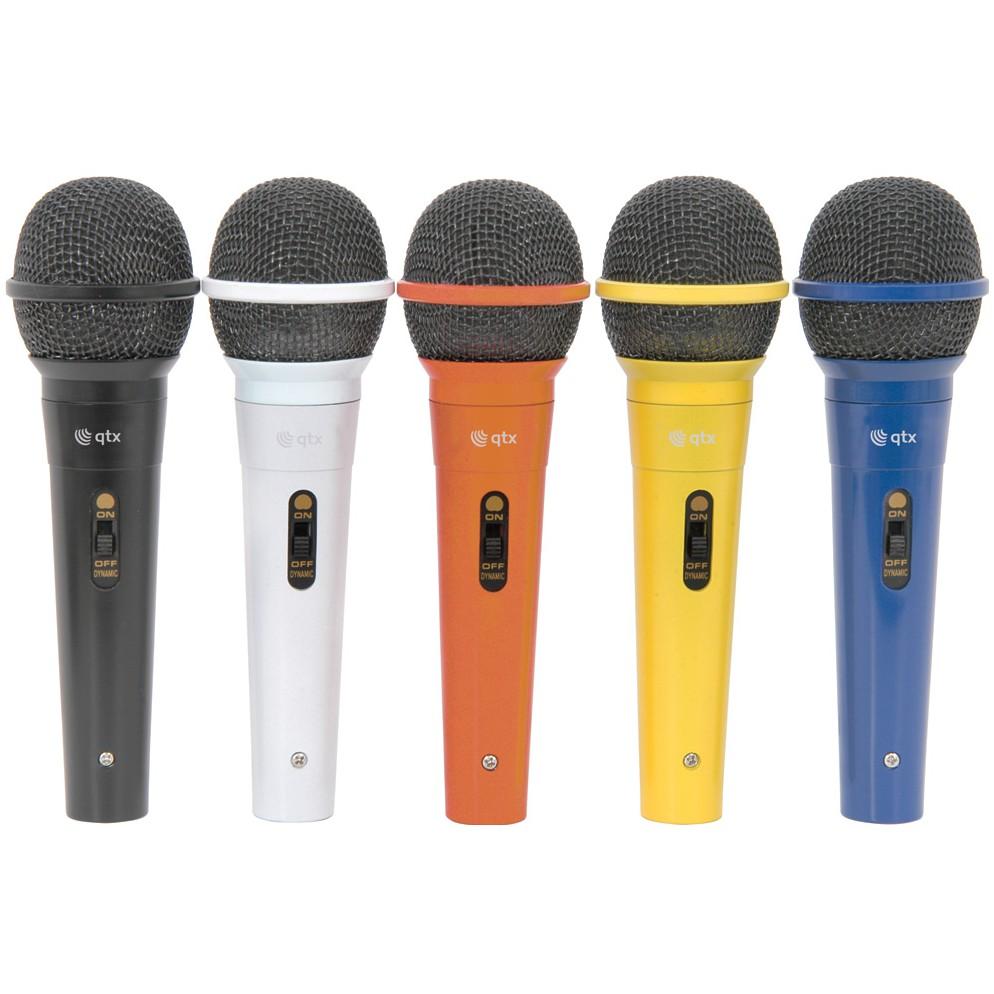 QTX sada dynamických mikrofonů XLR, 5 barev