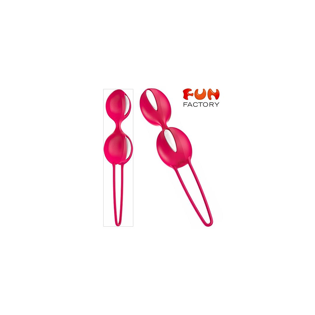 Fun Factory Smartballs teneo duo NEW bílo-indická červená
