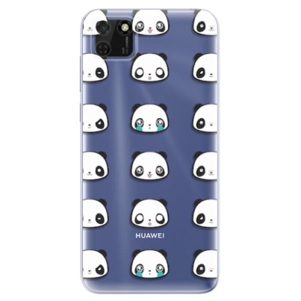 Odolné silikonové pouzdro iSaprio - Panda pattern 01 - Huawei Y5p
