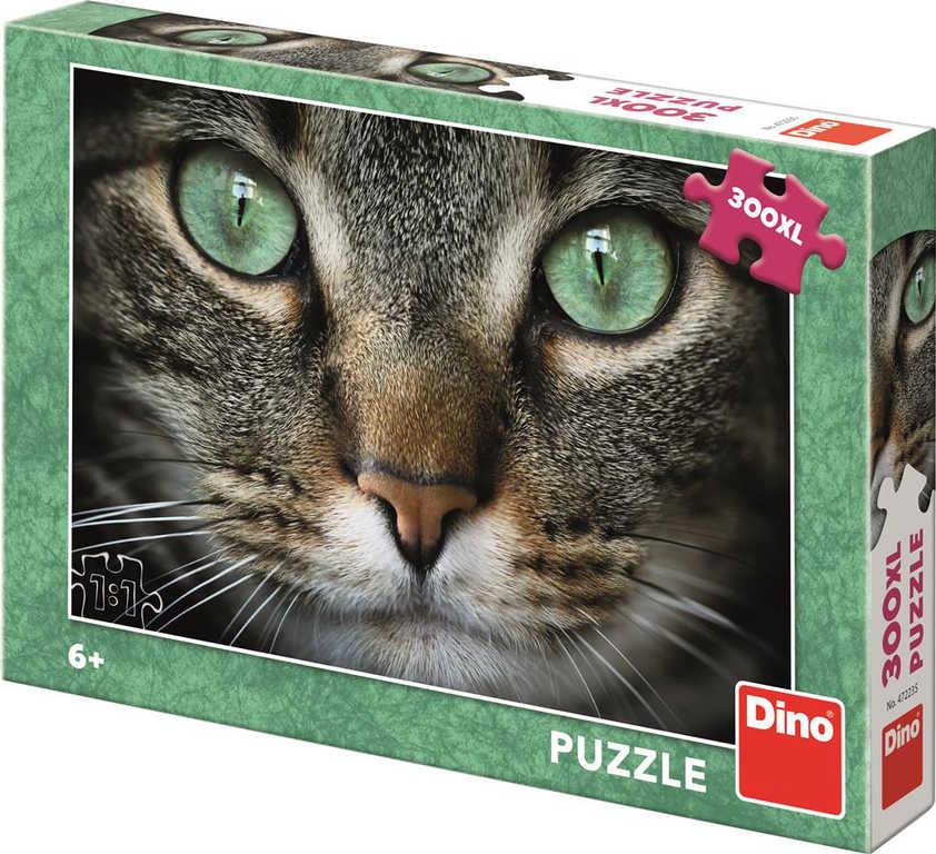 DINO Puzzle 300 dílků XL Kočka zelenooká foto 47x33cm skládačka