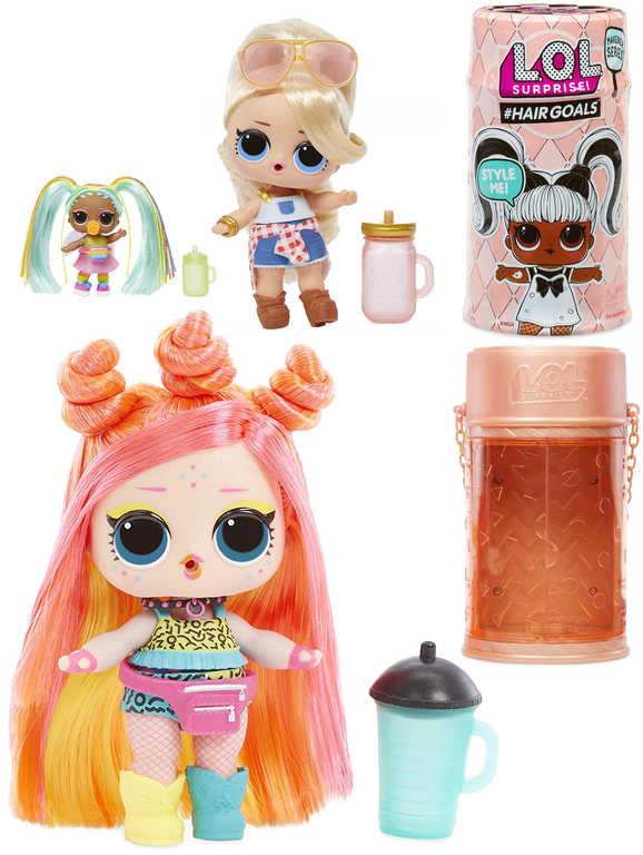 L.O.L. Surprise Hairgoals panenka set s doplňky opravdové vlasy 15 překvapení