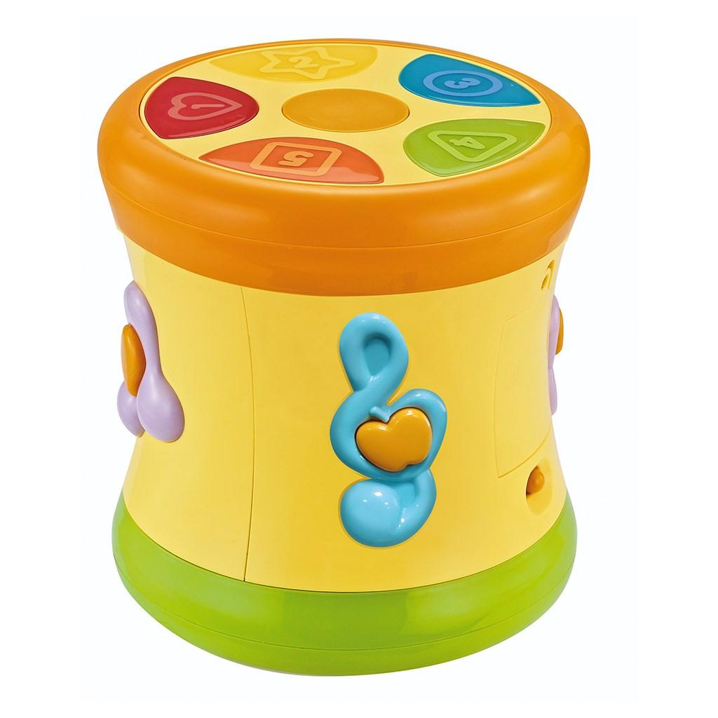 Edukační hrající bubínek BAYO - žlutá