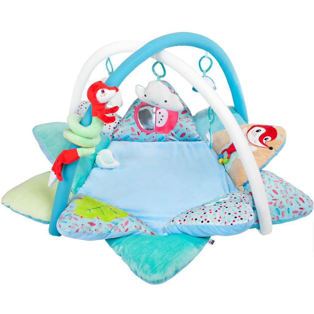 Luxusní hrací deka s melodií PlayTo Fox - modrá