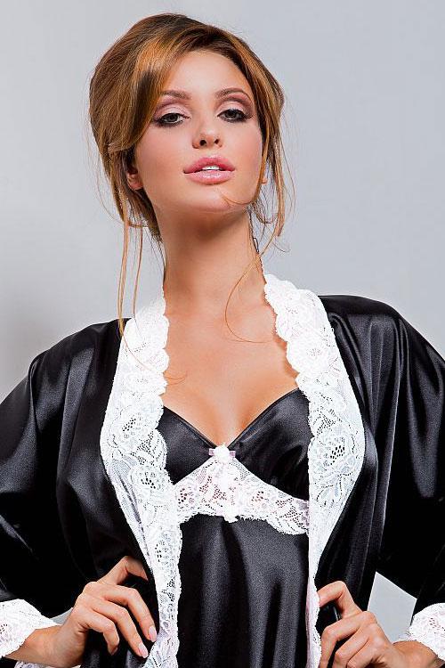 Dámský župan Hamana Ariadna gown black - Černá/L/XL