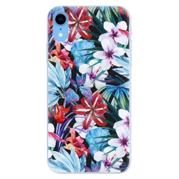 Odolné silikonové pouzdro iSaprio - Tropical Flowers 05 - iPhone XR