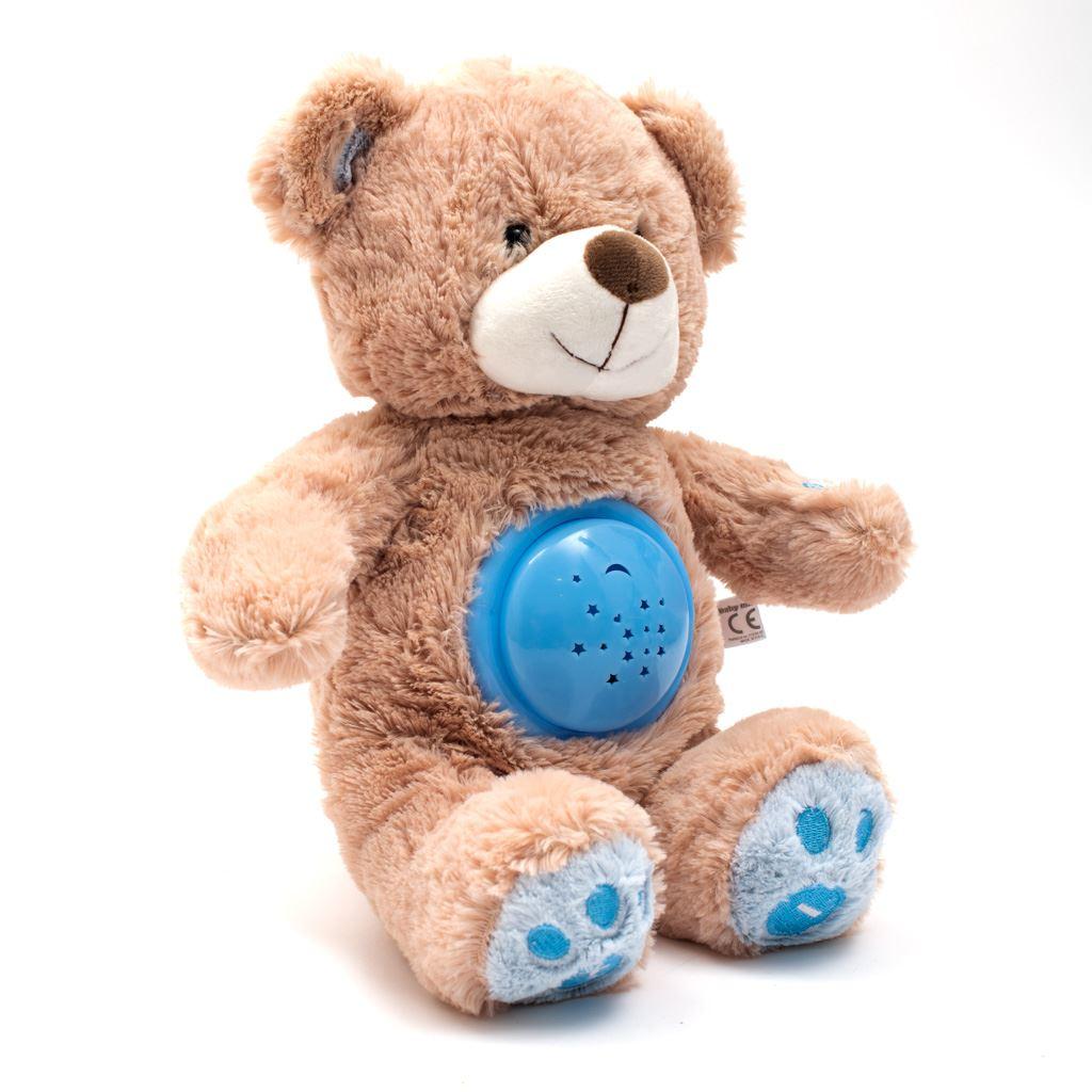 Plyšový usínáček medvídek s projektorem Baby Mix