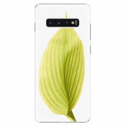 Plastový kryt iSaprio - Green Leaf - Samsung Galaxy S10+