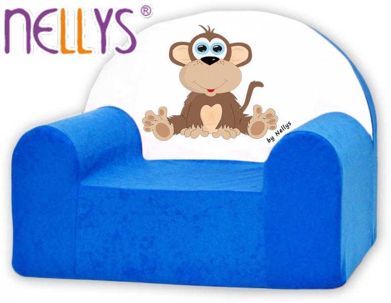Náhradní potah na dětské křeslo Nellys - Opička Nellys modrá