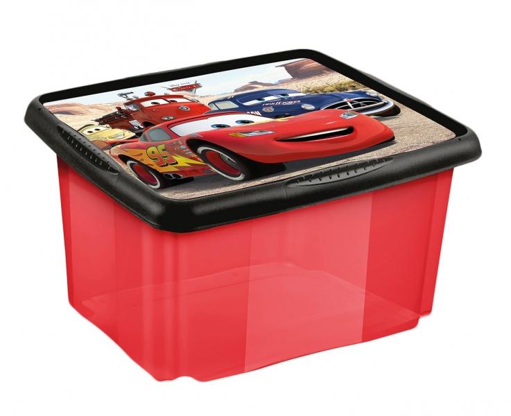 Keeeper Box na hračky Cars 45 l - červený