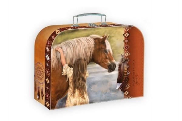 Šitý Kufřík/Kufr kůň s dívkou 25x19x9,5cm
