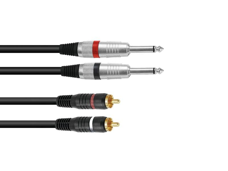 Kabel KC2-60 2x Jack 6,3 mono - 2x RCA, 6 m