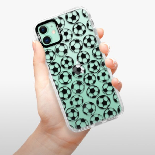 Silikonové pouzdro Bumper iSaprio - Football pattern - black - iPhone 11