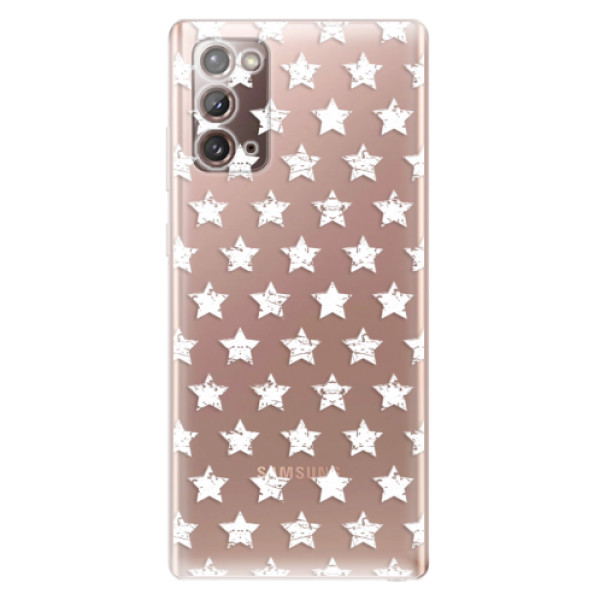 Odolné silikonové pouzdro iSaprio - Stars Pattern - white - Samsung Galaxy Note 20