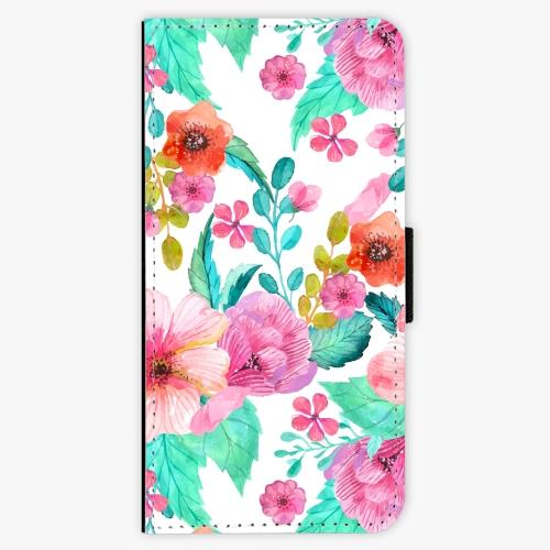 Flipové pouzdro iSaprio - Flower Pattern 01 - Samsung Galaxy A3 2017