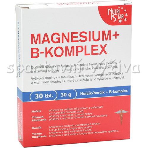 Magnesium B-komplex 30 tablet