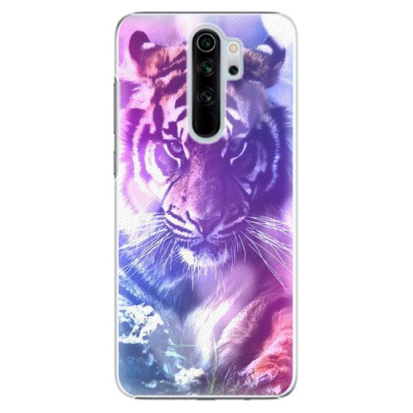 Plastové pouzdro iSaprio - Purple Tiger - Xiaomi Redmi Note 8 Pro