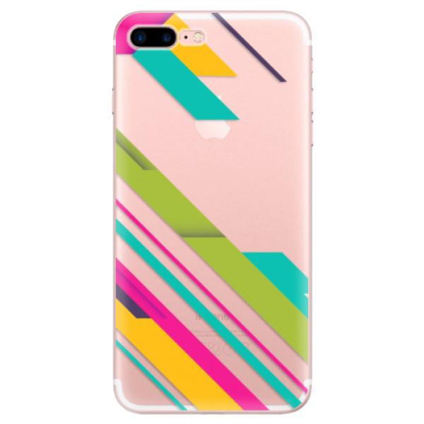 Odolné silikonové pouzdro iSaprio - Color Stripes 03 - iPhone 7 Plus