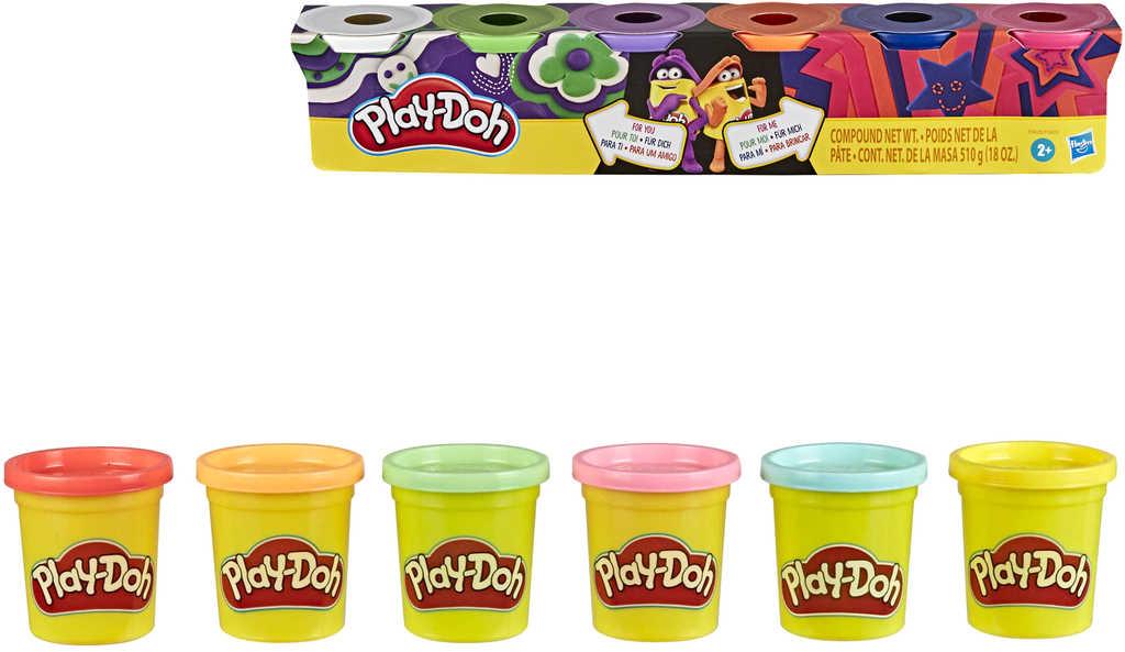 HASBRO PLAY-DOH Baby modelína set 6 kelímků mix barev 2 druhy