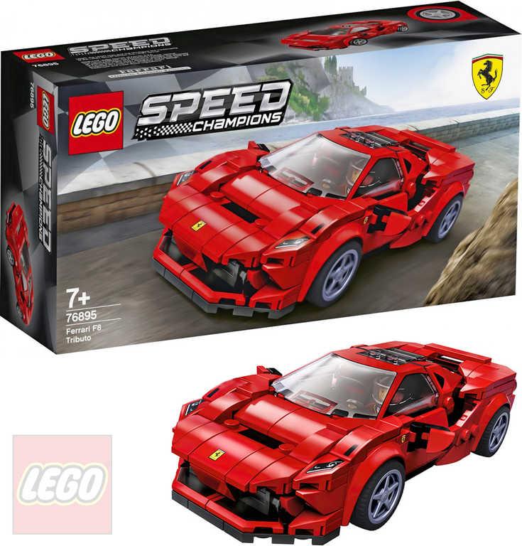 LEGO SPEED CHAMPIONS Auto model Ferrari F8 Tributo 76895 STAVEBNICE