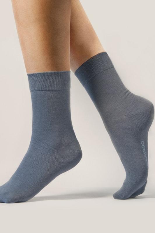 Bambusové ponožky GINA 82000P Bamboo klasické šedé - 41/44