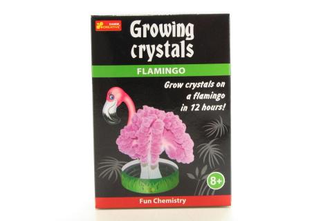 Rostoucí krystaly plameňák