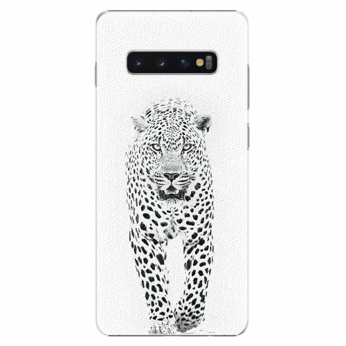 Plastový kryt iSaprio - White Jaguar - Samsung Galaxy S10+
