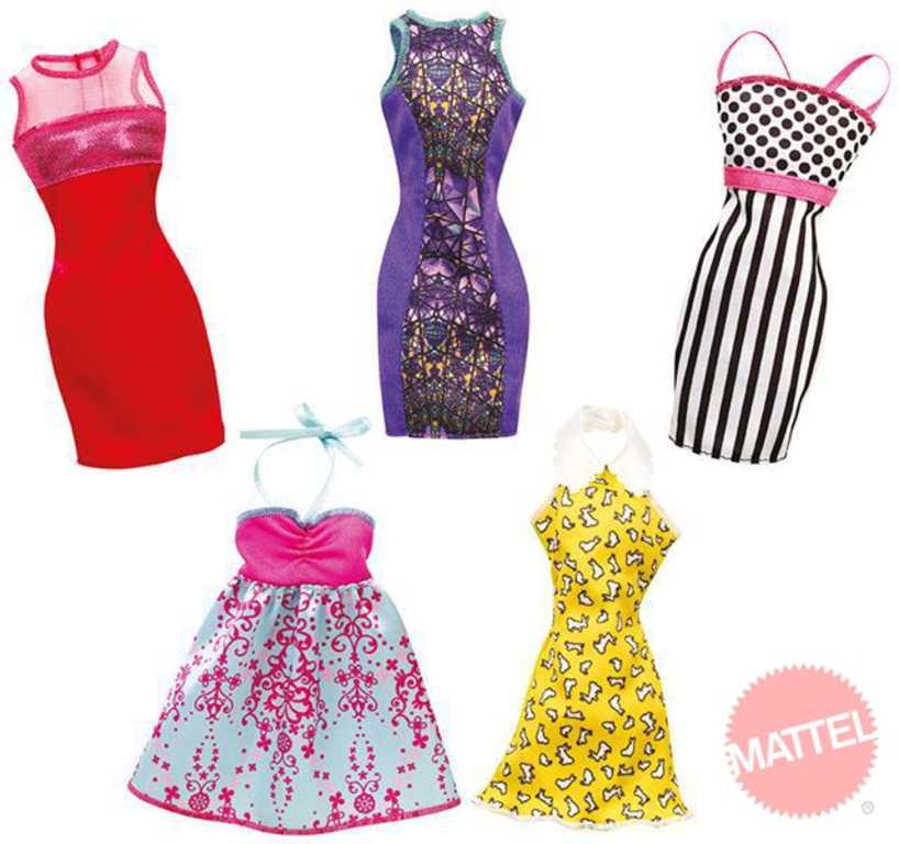 MATTEL BRB Party šaty pro panenku BARBIE 5 druhů