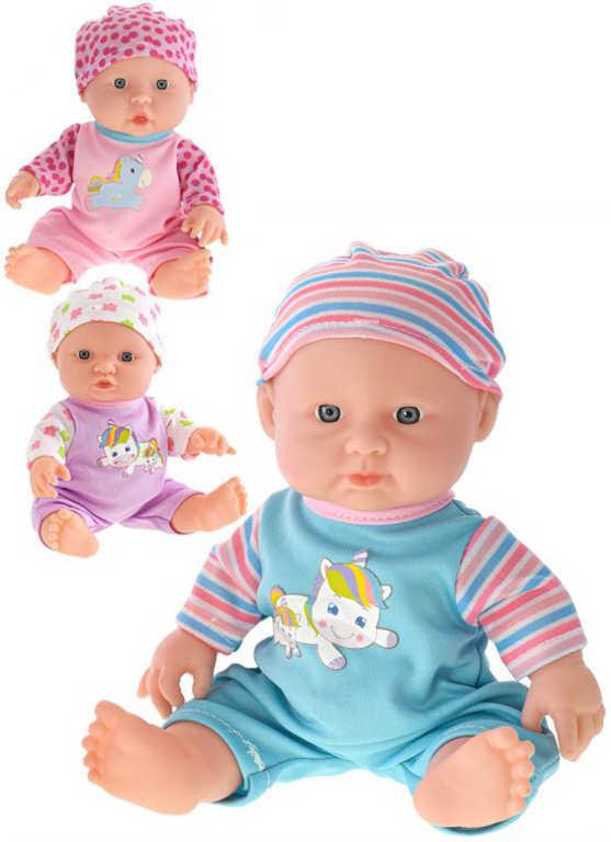 Baby miminko panenka 25cm obleček s jednorožcem na baterie 3 druhy Zvuk