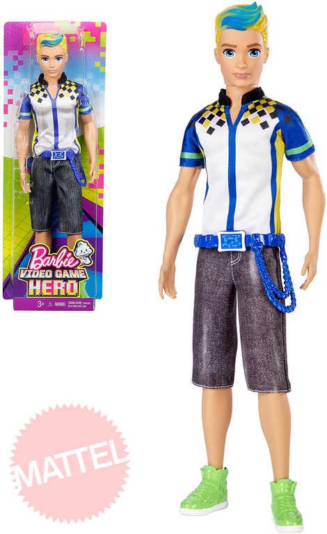 MATTEL BRB Barbie Panák Ken ve světě her video game hero