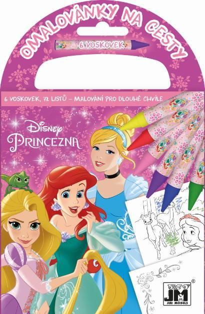 JIRI MODELS Omalovánky na cesty Disney Princezny set s voskovkami a držátkem