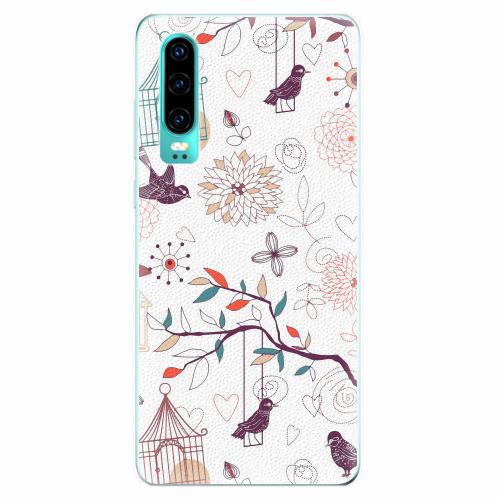 Silikonové pouzdro iSaprio - Birds - Huawei P30