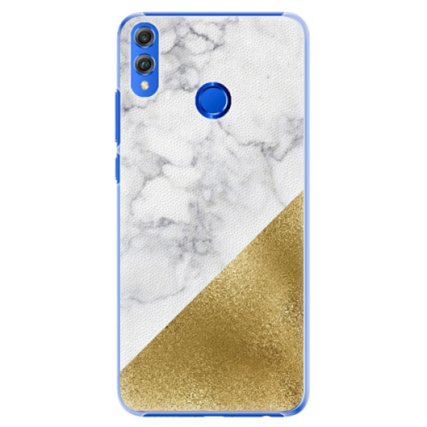 Plastové pouzdro iSaprio - Gold and WH Marble - Huawei Honor 8X