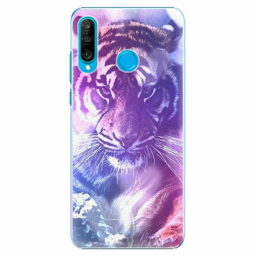 Plastový kryt iSaprio - Purple Tiger - Huawei P30 Lite