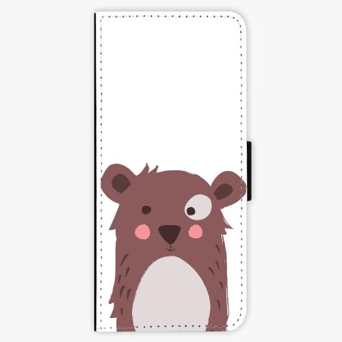 Flipové pouzdro iSaprio - Brown Bear - Samsung Galaxy J3