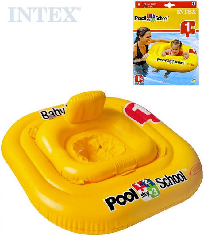 INTEX Kruh plavací s otvory 79x79cm Kříž sedátko čtverec pro miminko 56587