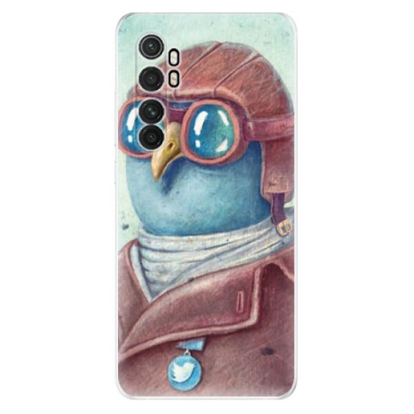 Odolné silikonové pouzdro iSaprio - Pilot twitter - Xiaomi Mi Note 10 Lite