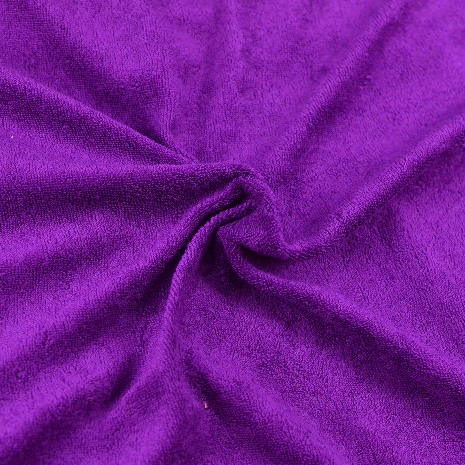 Froté prostěradlo tmavě fialové, Výběr rozměru - 220x200cm