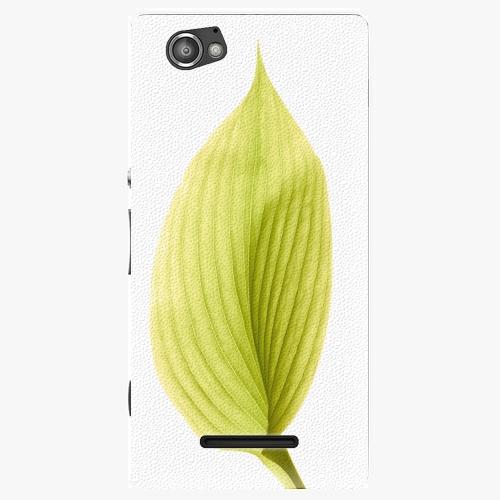 Plastový kryt iSaprio - Green Leaf - Sony Xperia M