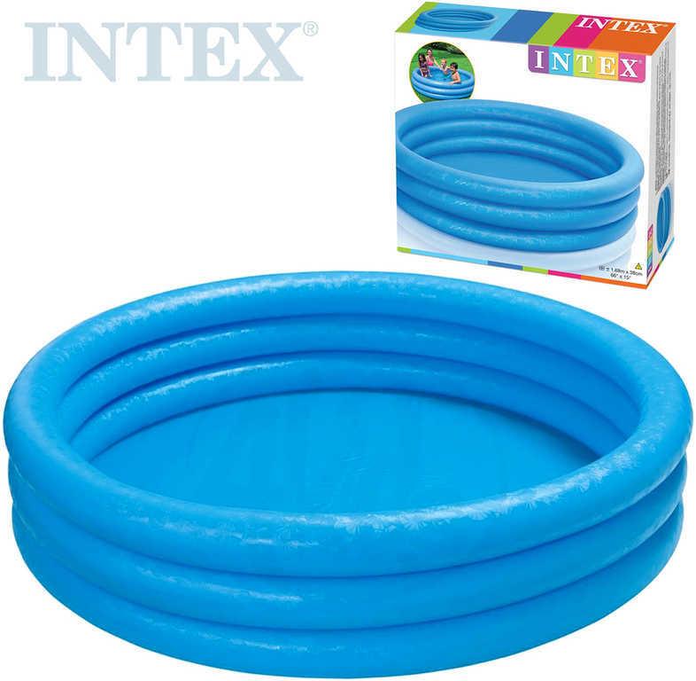 INTEX Bazén dětský nafukovací velký kruh 168x40cm Crystal modrý 58446