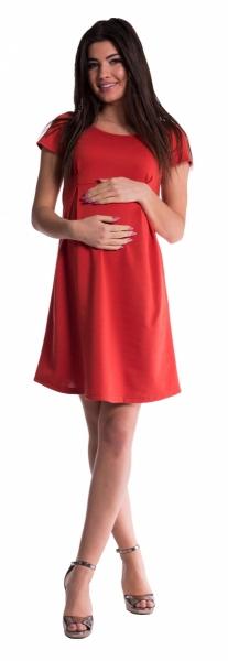 Be MaaMaa Těhotenské šaty - cihlové - XL (42)