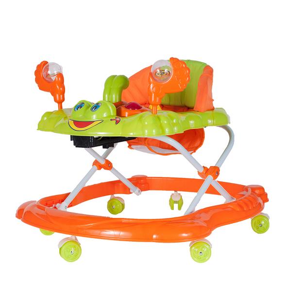 Tulimi Multifunkční chodítko Krab s chrastítem - oranžové