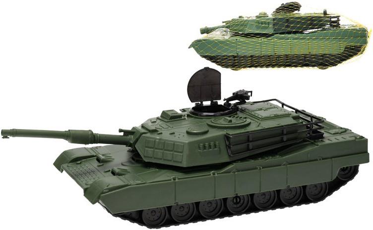 Tank vozidlo vojenské zelené 30 cm volný chod v síťce