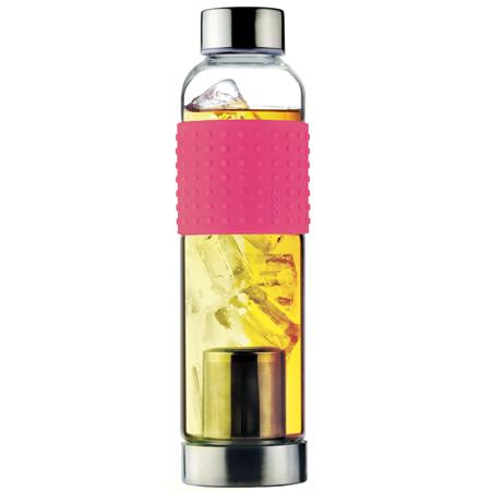 Skleněná láhev IT2GO 400ml růžová