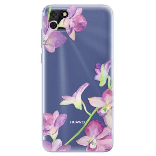 Odolné silikonové pouzdro iSaprio - Purple Orchid - Huawei Y5p
