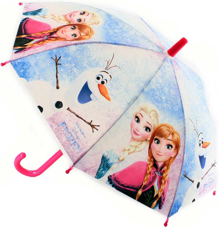 Deštník dětský plastový Frozen (Ledové Království) 66cm v sáčku