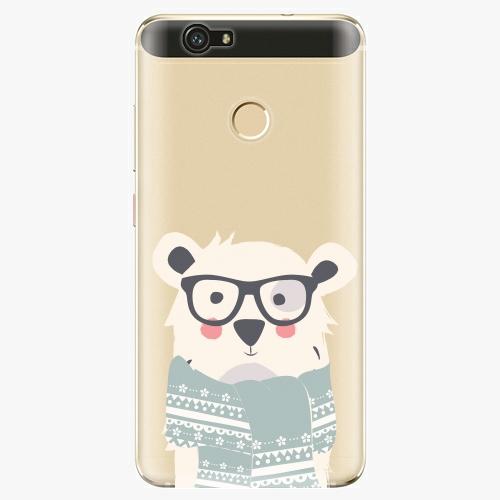 Plastový kryt iSaprio - Bear With Scarf - Huawei Nova