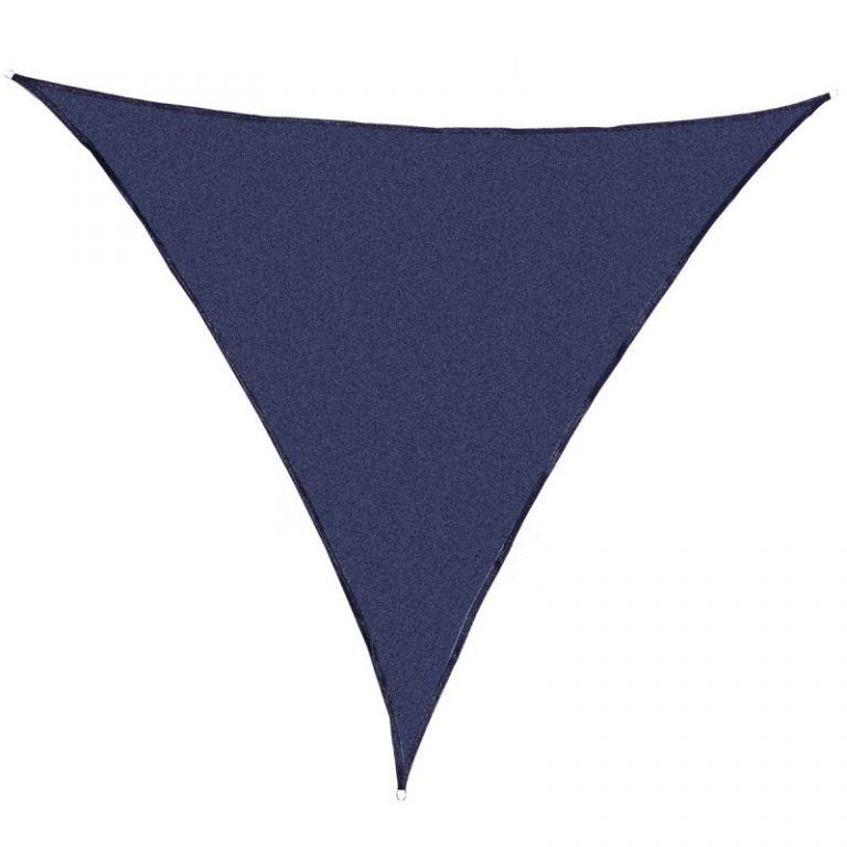 Stínící zahradní plachta trojúhelníková, indigo modrá, 360 cm